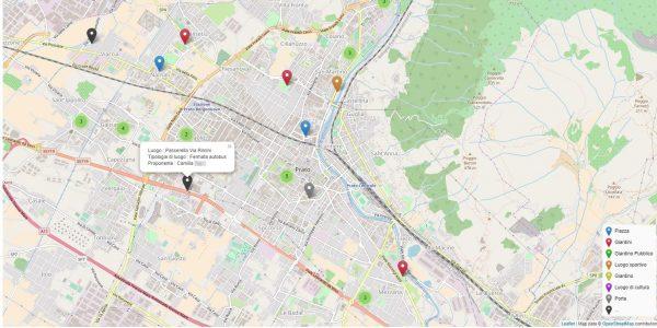 Esperienza di cocreazione di open data nella città di Prato, Italia
